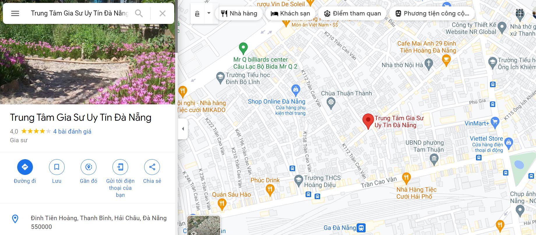 Trung Tâm Gia Sư Uy Tín Quận Hải Châu Tp Đà Nẵng